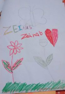 Zeinab-tekening